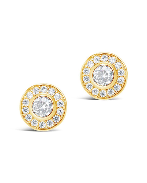 Circlet CZ Stud Earrings