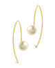 Sterling Silver Pearl Threader Earrings