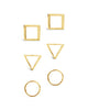 Sterling Silver Geometric Earring Set - Sterling Forever