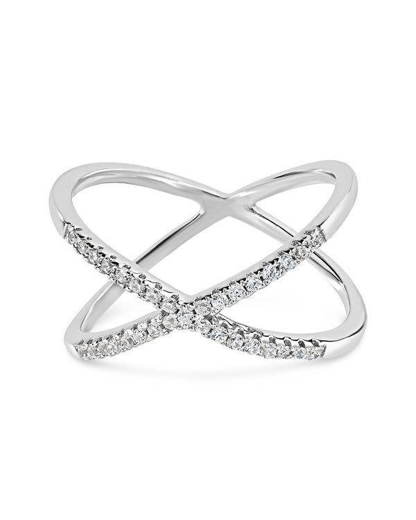 Sterling Silver Sparkling X Ring - Sterling Forever