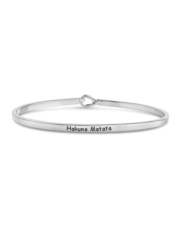 Mantra Hook and Eye Bangle Bracelet - Sterling Forever