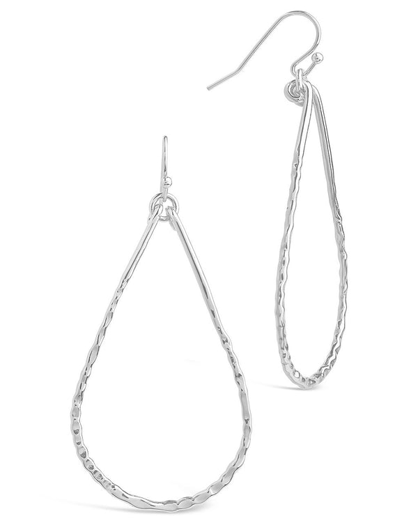 Hammered Teardrop Dangle Earring - Sterling Forever