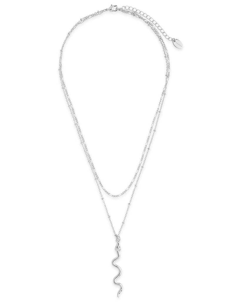 Snake Layered Necklace - Sterling Forever