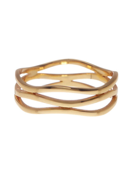 14K Gold Sterling Silver Layered Ring