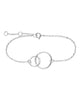 Sterling Silver Interlocking Circle Bracelet