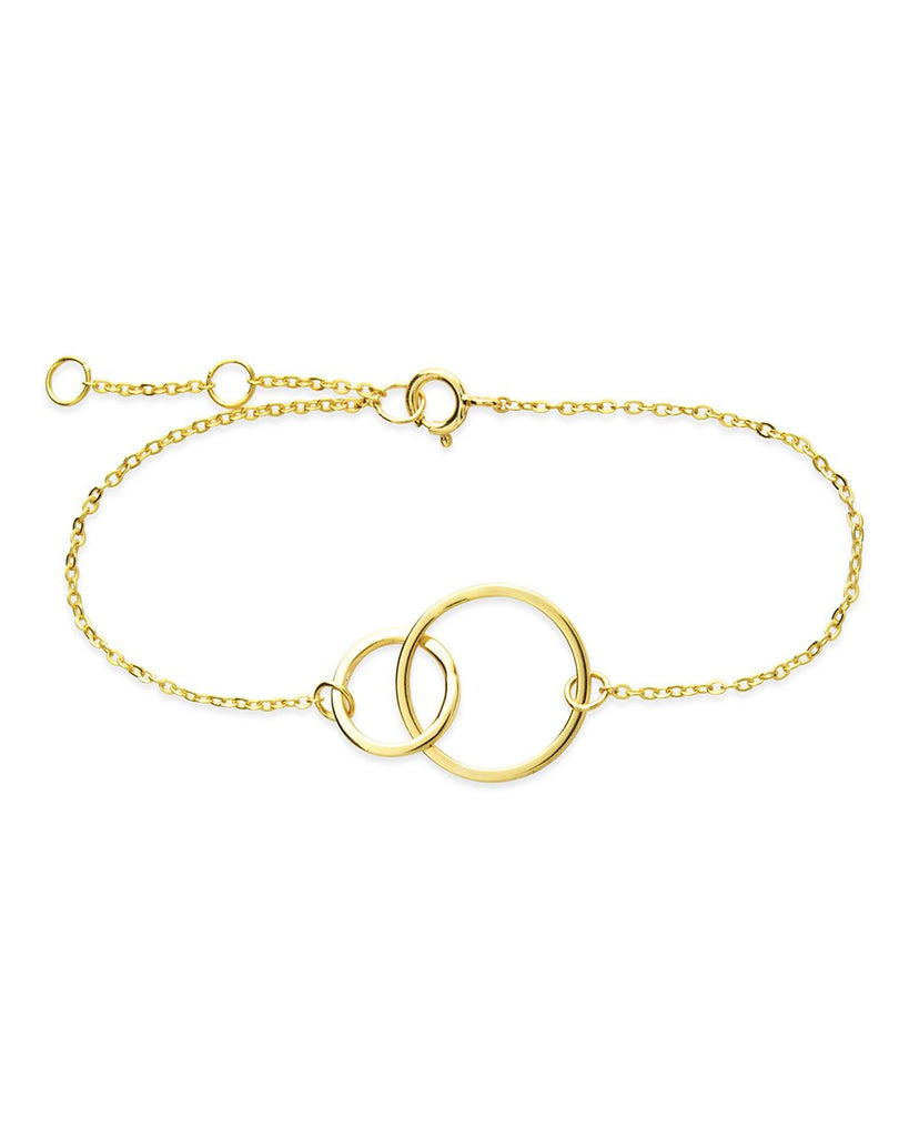Sterling Silver Interlocking Circle Bracelet - Sterling Forever