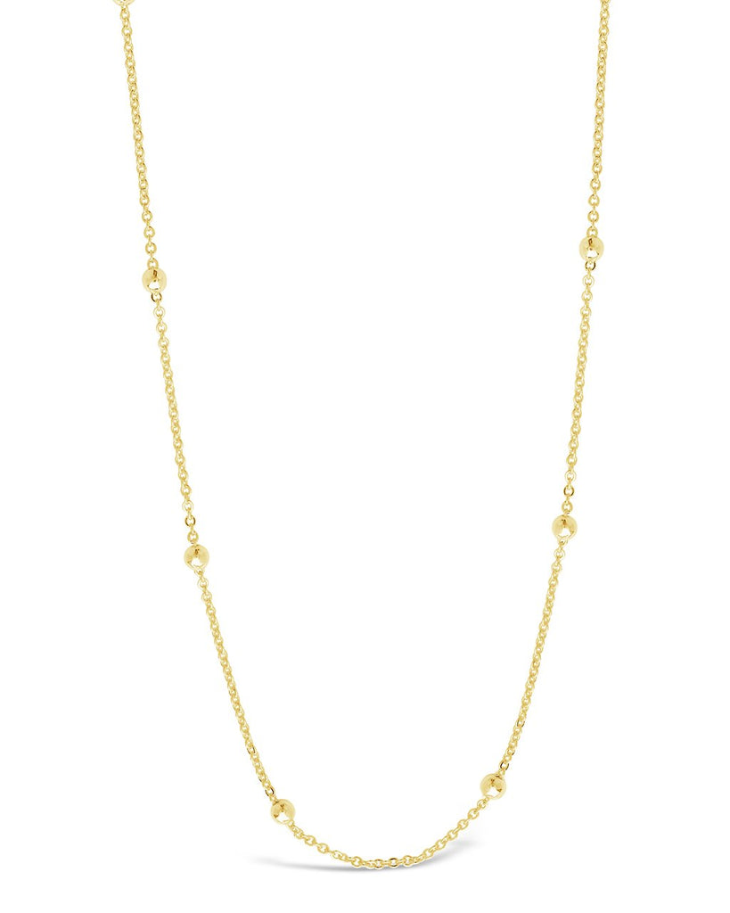 Delicate Beaded Station Face Mask Chain Face Mask Chain Sterling Forever Gold
