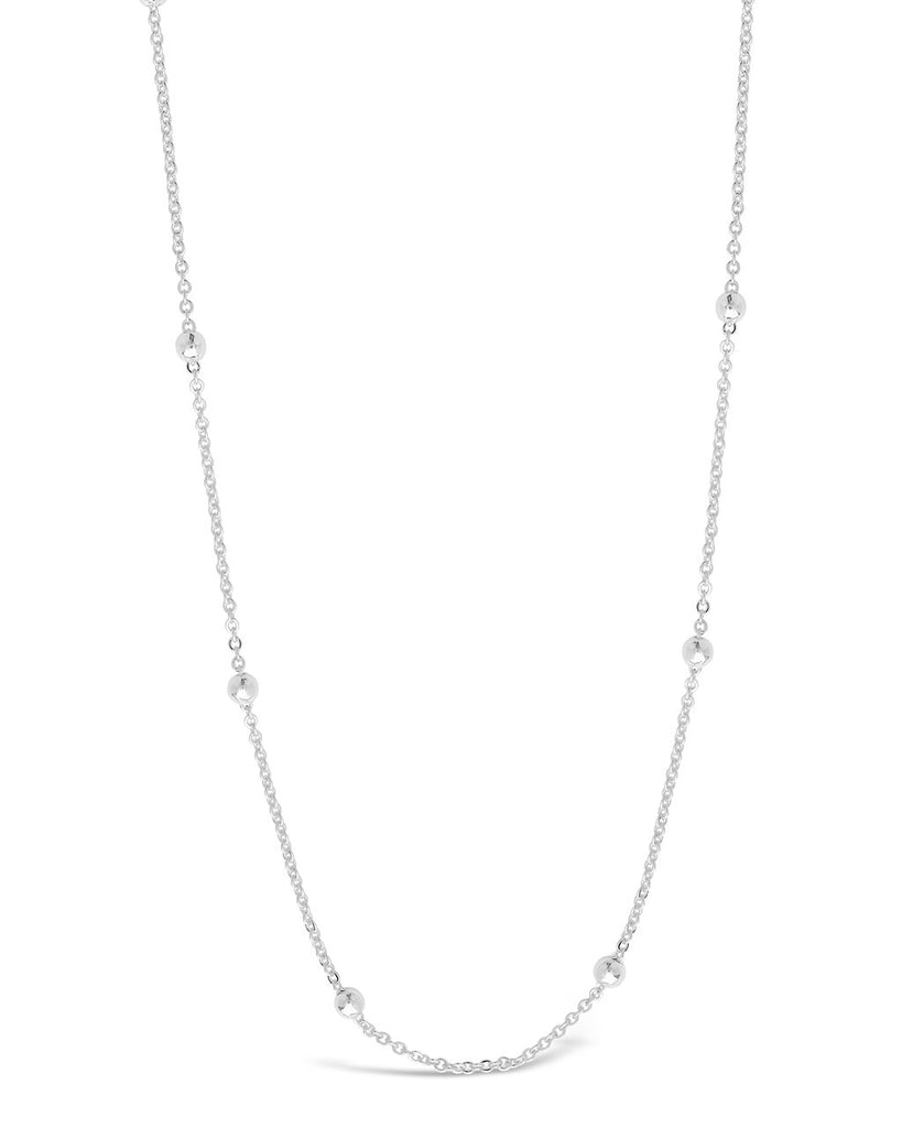 Delicate Beaded Station Face Mask Chain Face Mask Chain Sterling Forever Silver