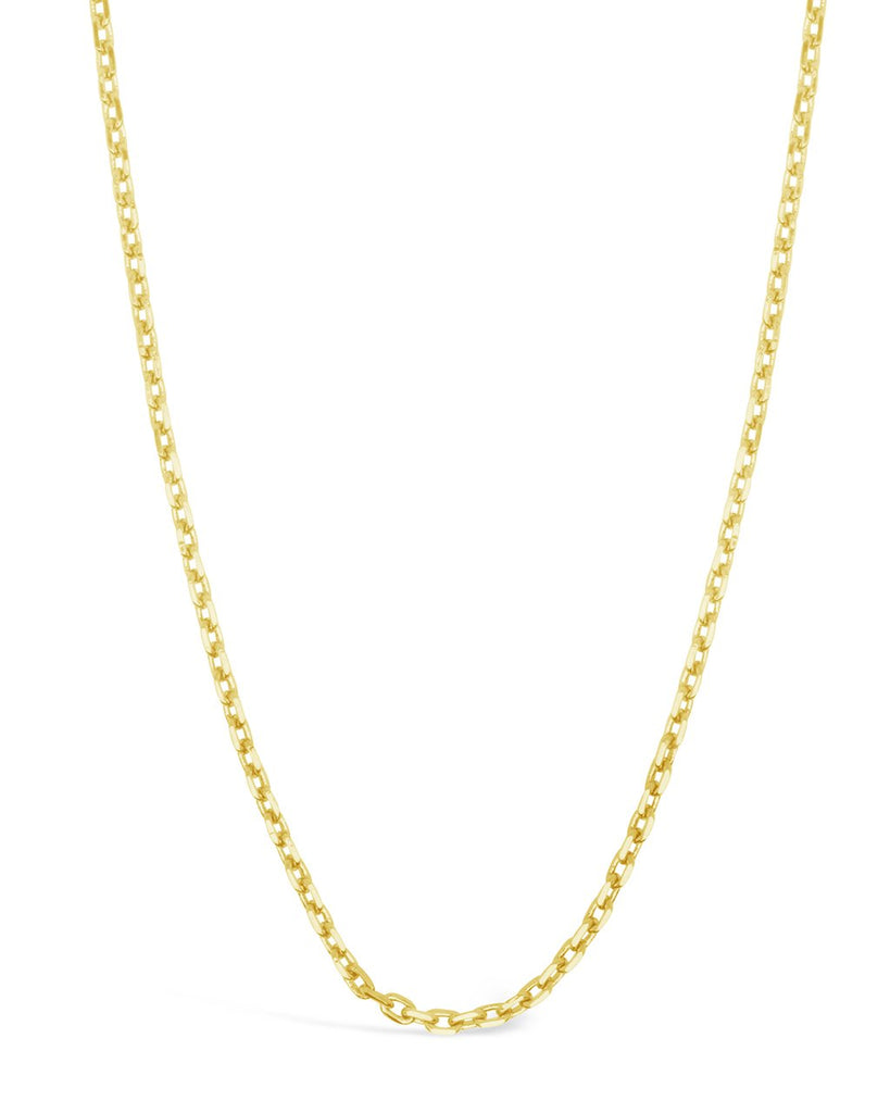 Dainty Link Face Mask Chain Face Mask Chain Sterling Forever Gold