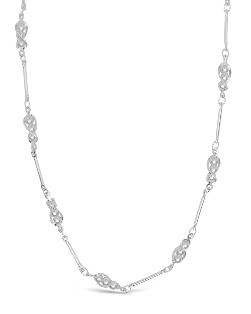 Stationed Triple Pearl Face Mask Chain Face Mask Chain Sterling Forever Silver