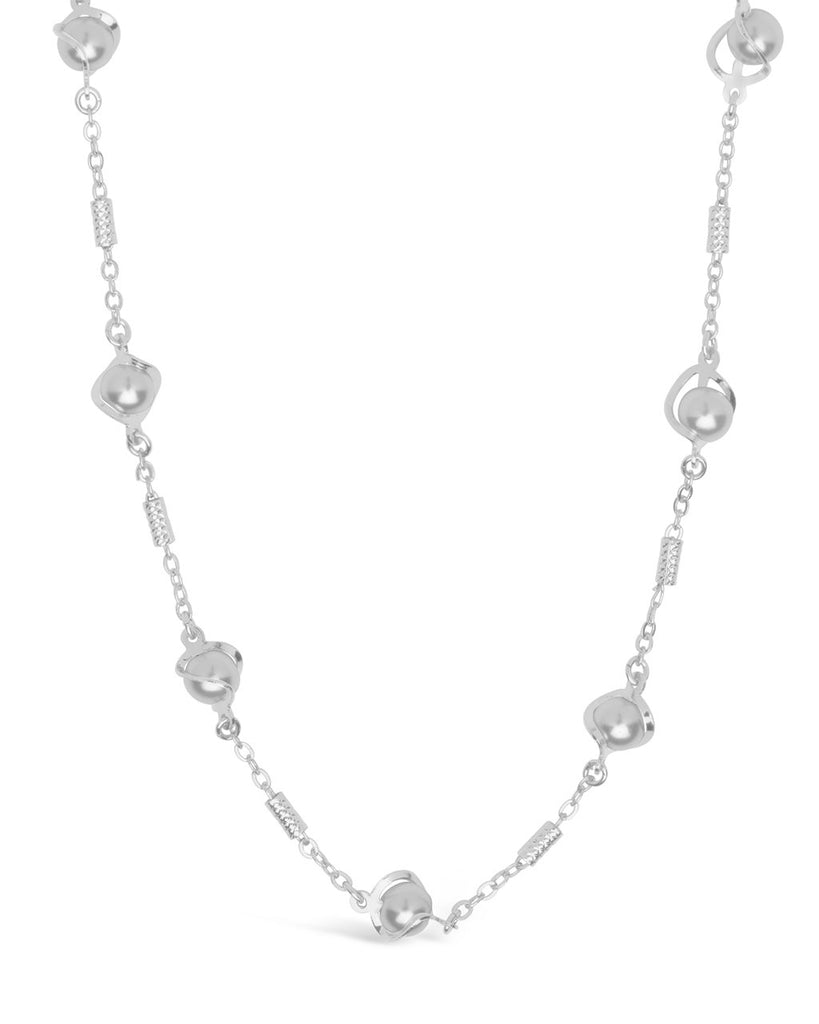 Stationed Pearl Twist Face Mask Chain Face Mask Chain Sterling Forever Silver