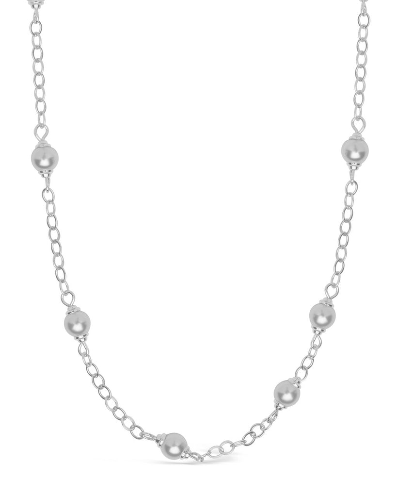 Stationed Pearl Face Mask Chain Face Mask Chain Sterling Forever Silver