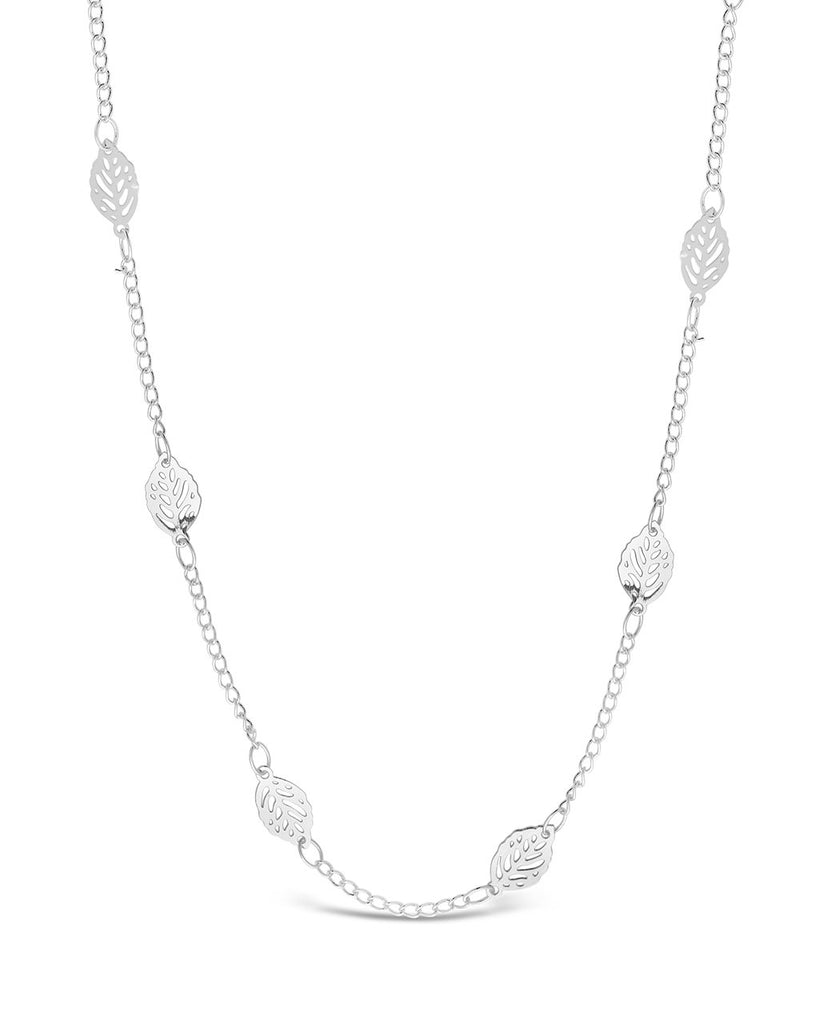 Delicate Stationed Leaf Face Mask Chain Face Mask Chain Sterling Forever Silver