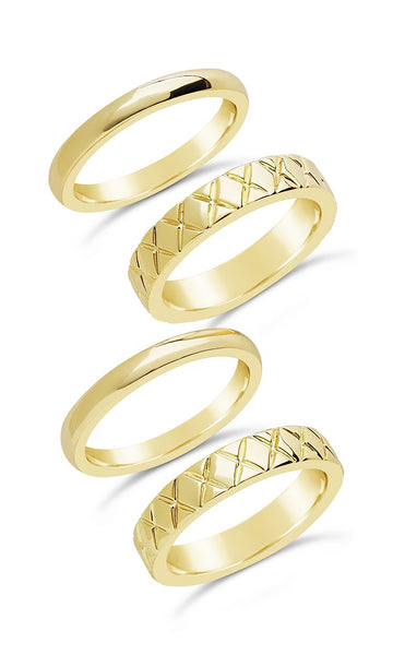 The Mirage 4pc Ring Set