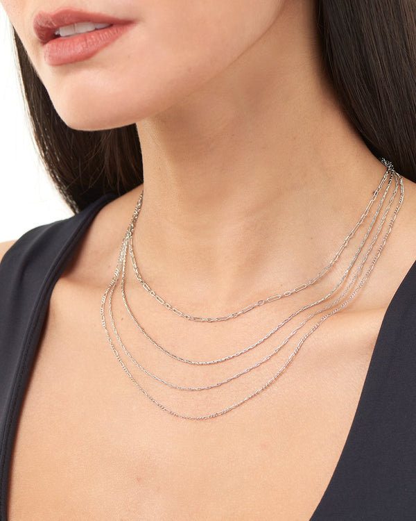 Multi Chain Layered Necklace Necklace Sterling Forever
