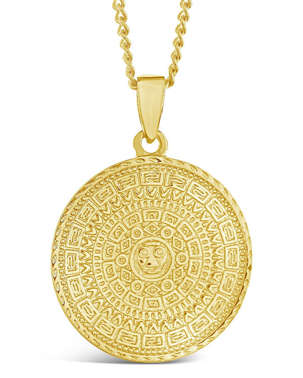 Gold Medallion Necklace - Sterling Forever