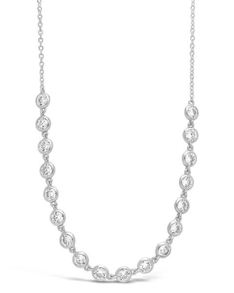 Sterling Silver Bezel CZ Chain Necklace - Sterling Forever