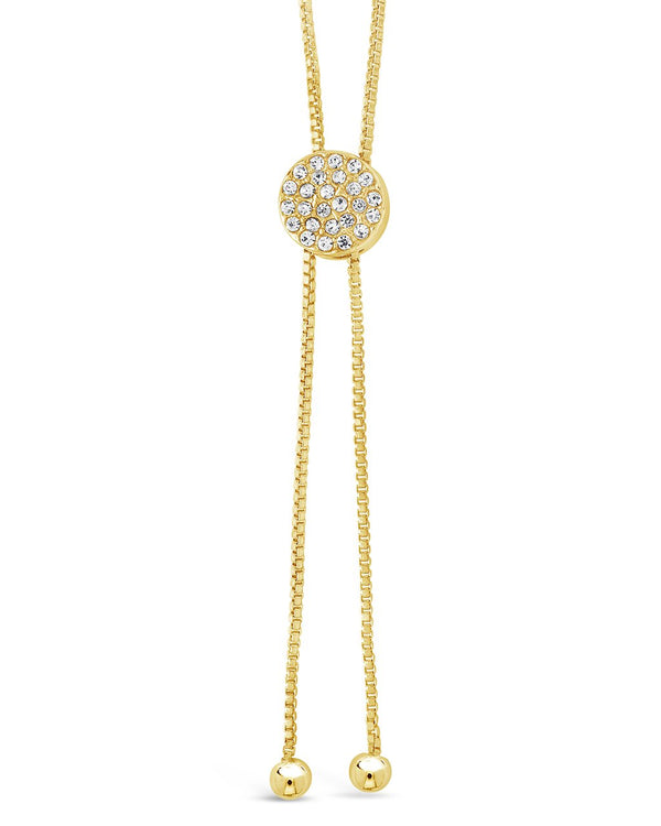 CZ Slider Bolo Necklace - Sterling Forever