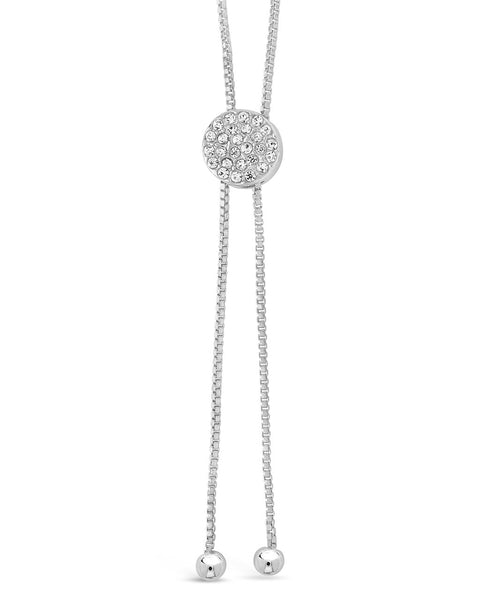 CZ Slider Bolo Necklace Necklace Sterling Forever Silver