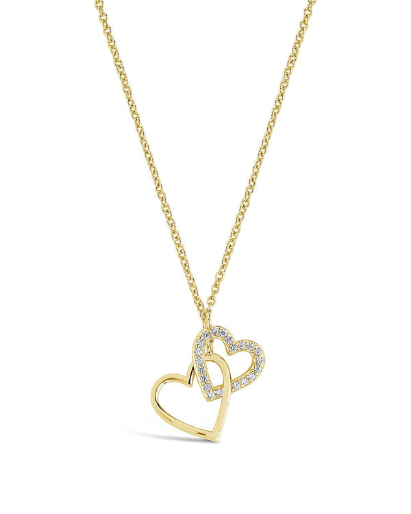 Interlocking Hearts Necklace - Sterling Forever