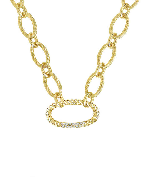 Interlocking Illusion Lock Linked Necklace Necklace Sterling Forever Gold