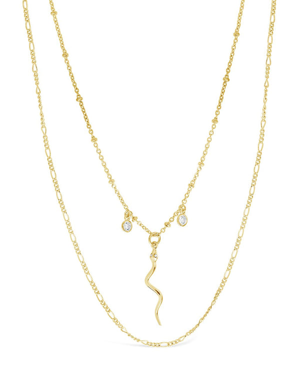 Sterling Forever Scaly Snake Pendant Necklace