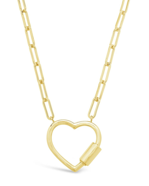 Polished Heart Carabiner Necklace Necklace Sterling Forever Gold