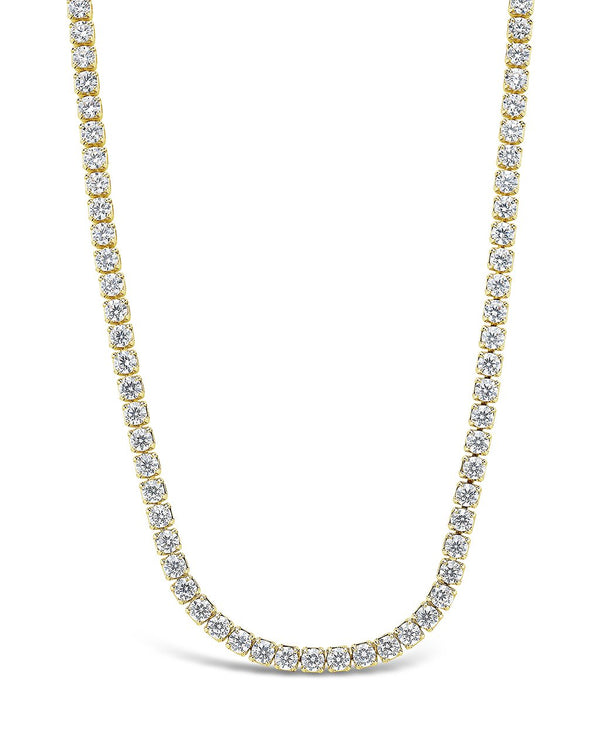 Bezel CZ Tennis Necklace Necklace Sterling Forever