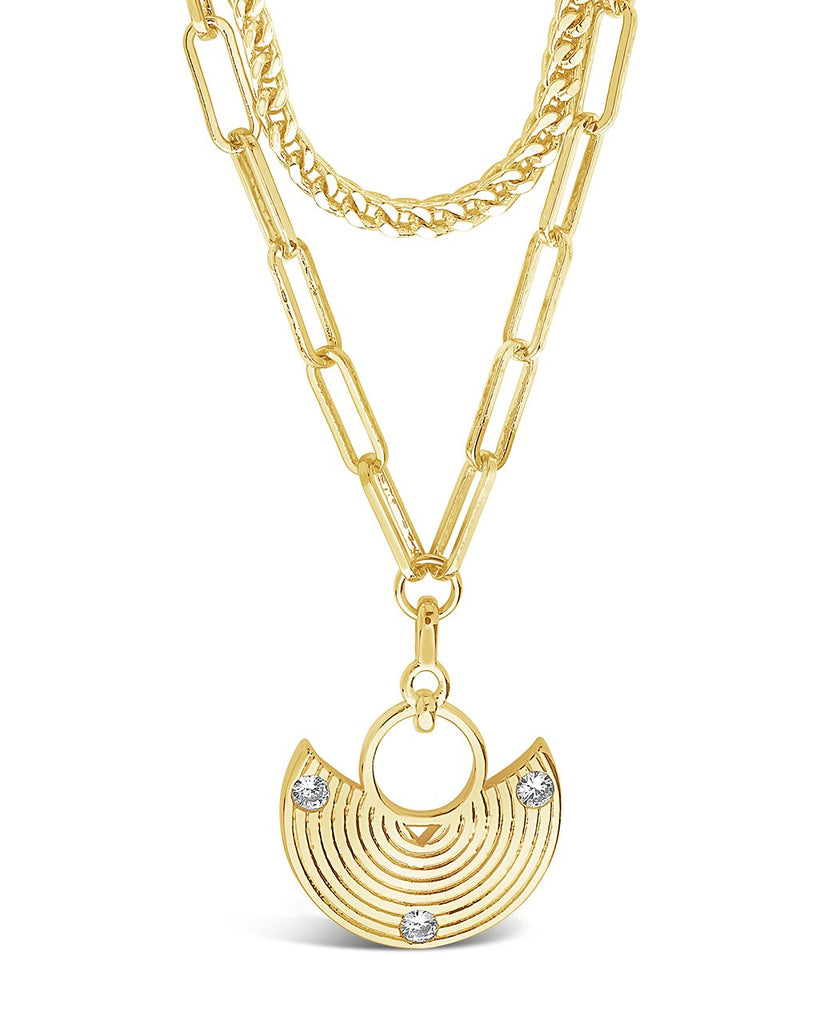 Box Chain & Long Link Layered Necklace Necklace Sterling Forever Gold
