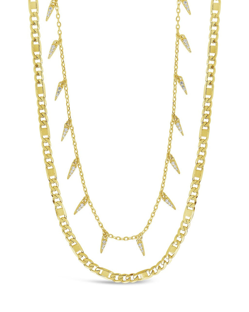 Chain & Charm Necklace Set Necklace Sterling Forever Gold
