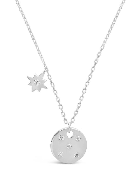 Northern Star Disk & Burst Necklace Necklace Sterling Forever Silver