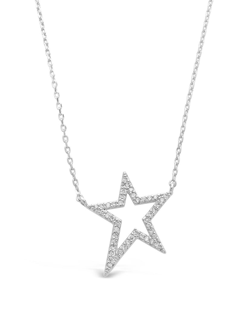 Sterling Silver CZ Star Necklace Necklace Sterling Forever Silver