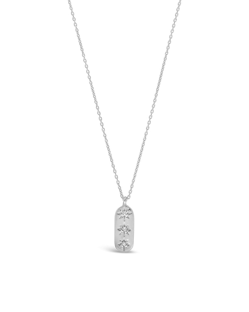 Sterling Silver Northern Star Bar Necklace - Sterling Forever