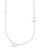 Long Polished Interlocking Circles Necklace - Sterling Forever