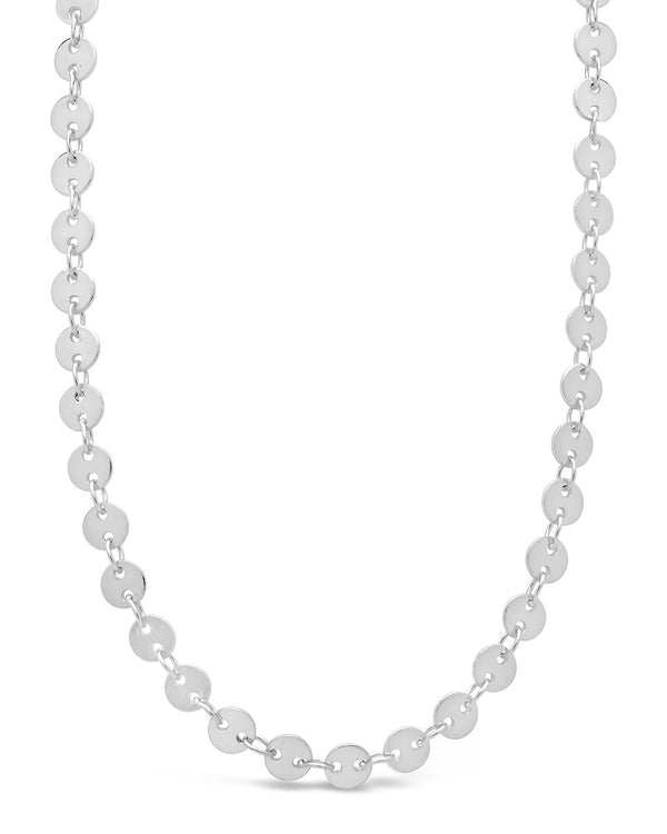 Mini Round Disk Chain Necklace - Sterling Forever