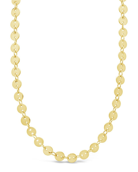 Mini Round Disk Chain Necklace Necklace Sterling Forever Gold