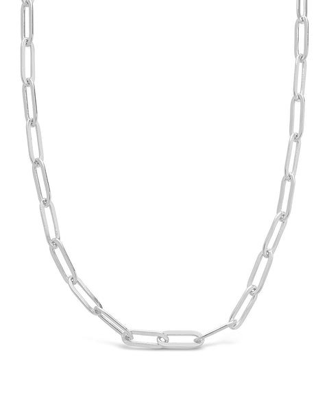 Polished Small Link Chain Necklace Necklace Sterling Forever Silver