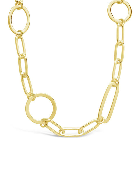 Mixed Link Necklace Necklace Sterling Forever Gold