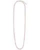 Round Disk Long Chain Necklace - Sterling Forever