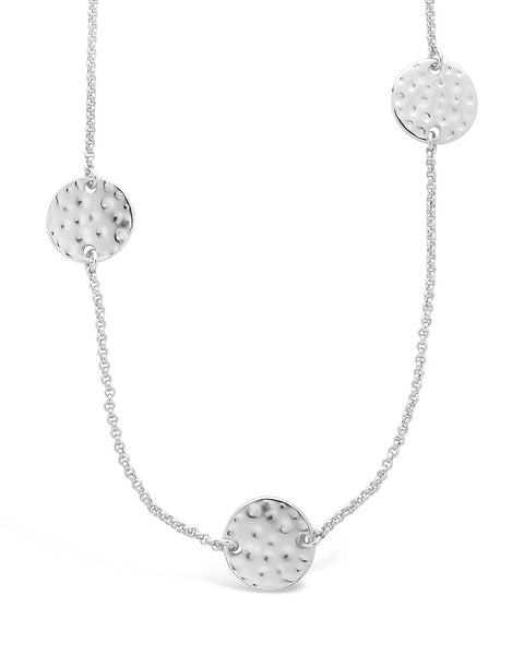 Round Disk Stationed Layer Necklace Necklace Sterling Forever
