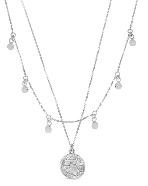 Beaded Chain Layered Charm Necklace Necklace Sterling Forever Silver