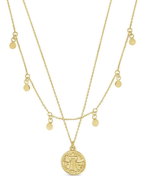 Beaded Chain Layered Charm Necklace Necklace Sterling Forever Gold