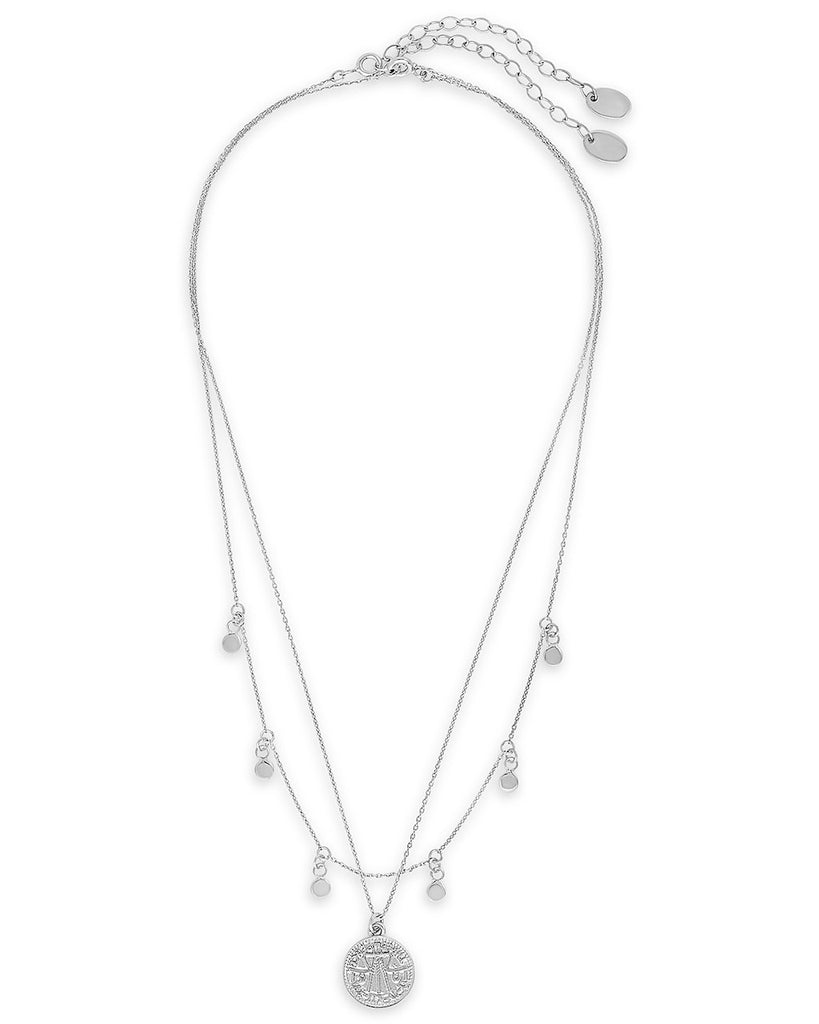 Beaded Chain Layered Charm Necklace - Sterling Forever