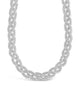 Chunky Mesh Braided Chain Necklace Sterling Forever Silver