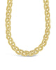 Chunky Mesh Braided Chain Necklace Sterling Forever Gold