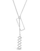Geo Lariat Necklace - Sterling Forever