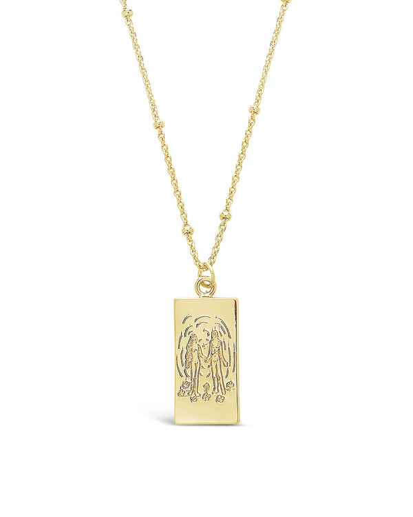 The Lovers Tarot Card Necklace - Sterling Forever