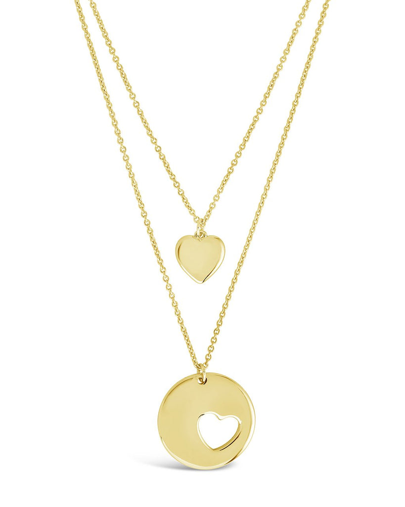 Polished Heart Layered Necklace - Sterling Forever