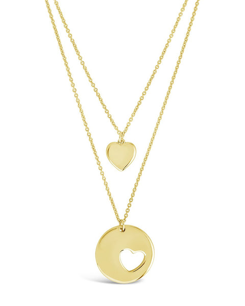 Polished Heart Layered Necklace Necklace Sterling Forever Gold