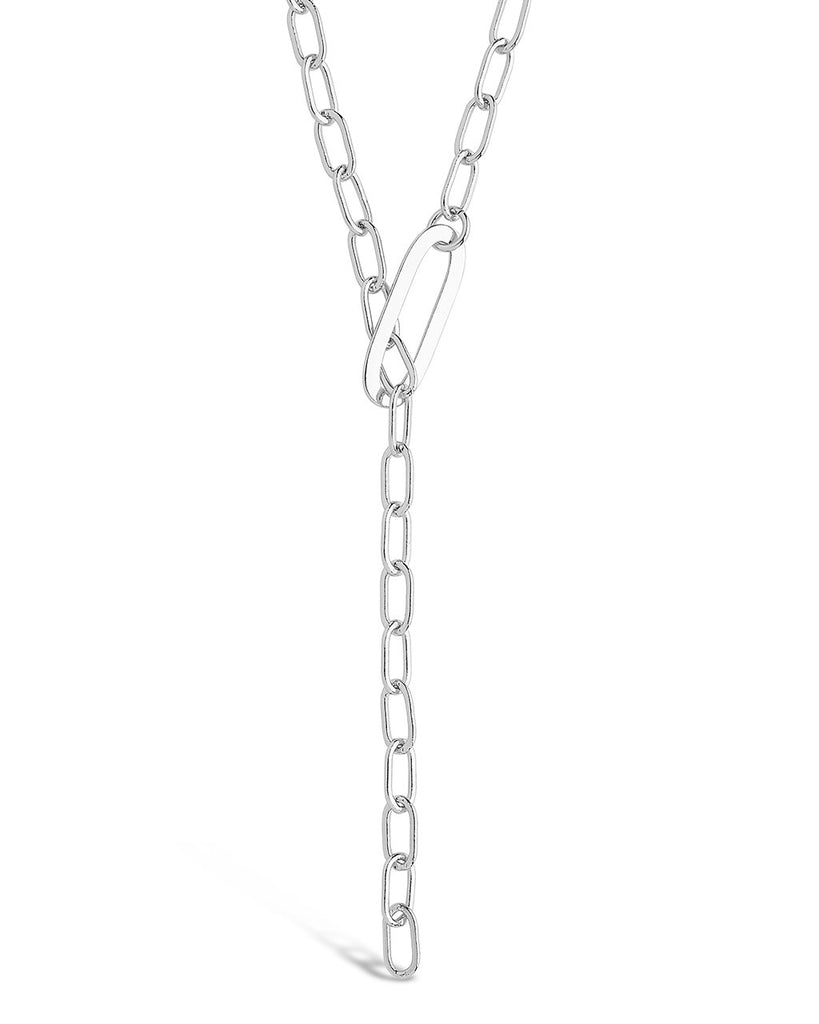 Chain Link Lariat Necklace - Sterling Forever
